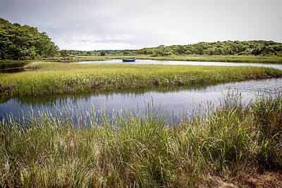 Katharine Hepburn - Boat in Cape Cod Marsh by Ray Summers Photography