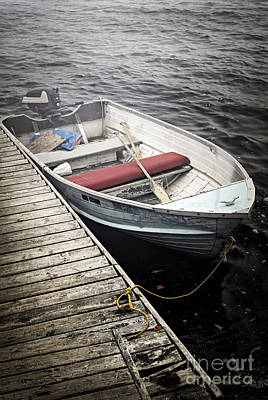 Transportation Royalty-Free and Rights-Managed Images - Boat in fog by Elena Elisseeva