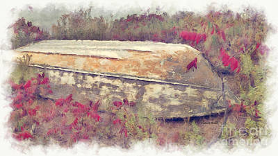 Photograph - Boat In Sumac by Claire Bull