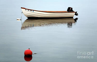 Photograph - Boat In The Bay by John Rizzuto