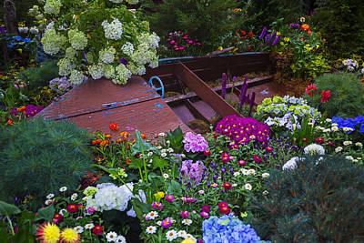 Garden Flowers Photograph - Boat In The Garden by Garry Gay