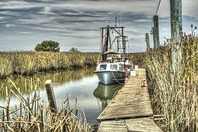 Photograph - Boat In The Marsh 3 by SC Heffner