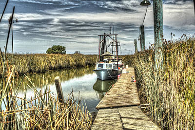 Photograph - Boat In The Marsh 4 by SC Heffner