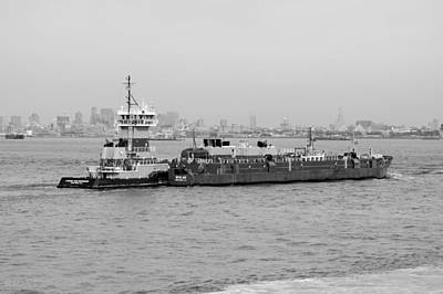Priska Wettstein Pink Hues - BOAT MEET BARGE in BLACK AND WHITE by Rob Hans