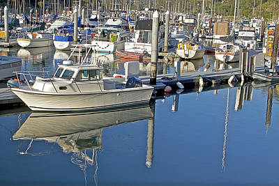 Boat Photograph - Boat Moored In Harbor by SC Heffner
