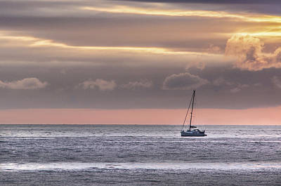 Photograph - Boat Mooring Off Nairn Beach by Veli Bariskan