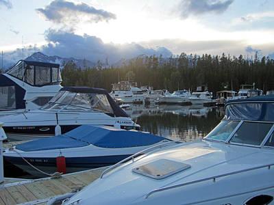 Tetons Photograph - Boat Night by Mike Podhorzer