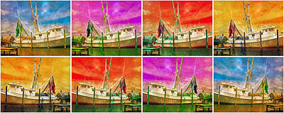 Different Colours Digital Art - Boat Of A Different Color by Betsy Knapp