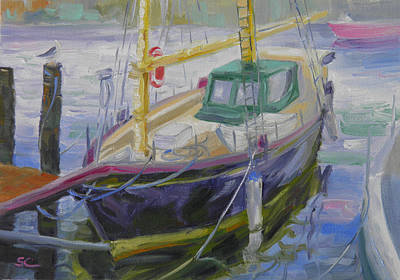 Painting - Boat Of Bountiful Color by Sharon Casavant