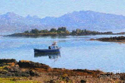 Digital Art - Boat On A Loch by Diane Macdonald