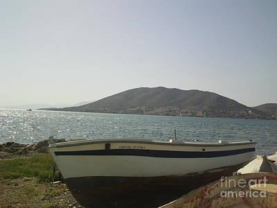 Photograph - Boat On Alyki Beach-2 by Katerina Kostaki