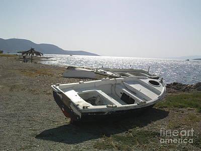 Photograph - Boat On Alyki Beach by Katerina Kostaki