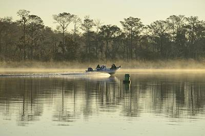 Boat On Apalachicola River Print by Christian Heeb