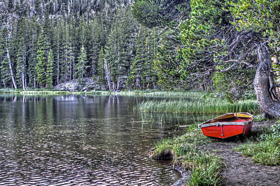 Photograph - Boat On Woods Lake by SC Heffner