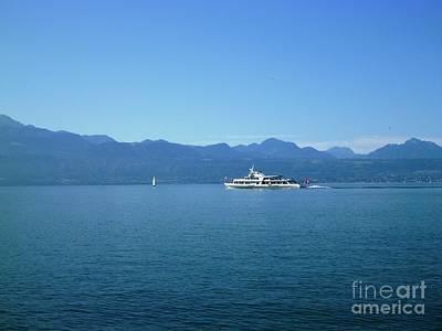 Photograph - Boat On Leman Lake - Swiss by Cristina Stefan