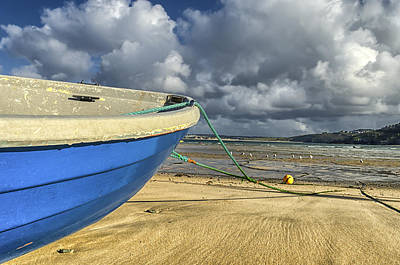 St Ives Wall Art - Photograph - Blue Boat by Joseph S Giacalone
