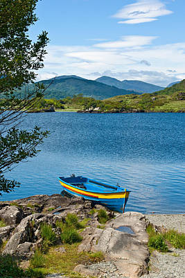 Boat On Upper Lake Killarney Art Print
