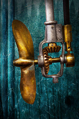 Boat - Propulsion  Art Print by Mike Savad