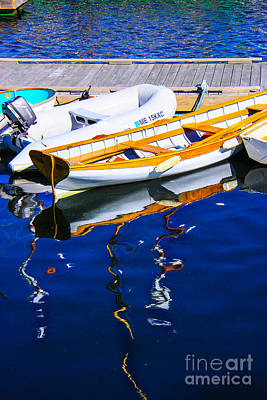 Amy Weiss - Boat reflections by Martha J Kenyon