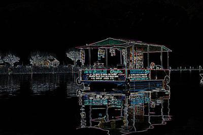Digital Art - Boat Restaurant by Vijinder Singh