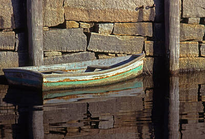 Massachussetts Photograph - Boat Rockport Harbor Massachussetts by Tony Ramos