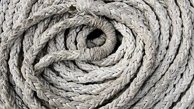 Photograph - Boat Rope No2 by Weston Westmoreland