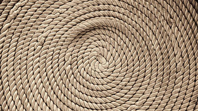 Photograph - Boat Rope No1 Sepia Version by Weston Westmoreland