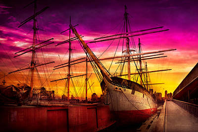 South Street Seaport Photograph - Boat - Sailing - Fleet Week by Mike Savad