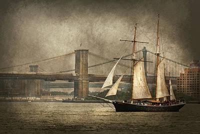 Fleet Week Photograph - Boat - Sailing - Govenors Island Ny - Clipper City by Mike Savad