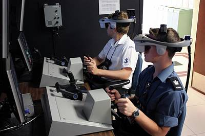 Reality Photograph - Boat Simulator Consoles by Us Air Force/bob Krekorian