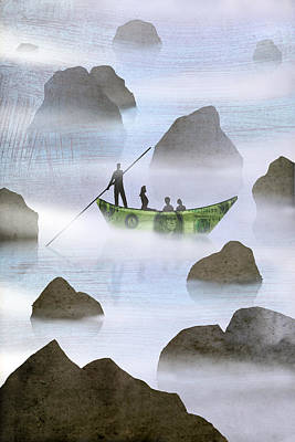 Visionary Drawing - Boat by Steve Dininno