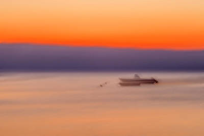 Photograph - Boat Sunrise by Alfio Finocchiaro