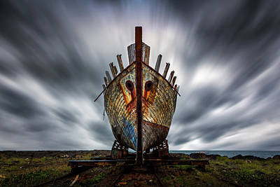 Shipwreck Wall Art - Photograph - Boat by Sus Bogaerts