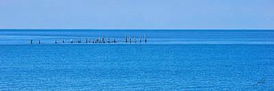 Photograph - Boat Tie- Ups - Chesapeake Bay by Paulette B Wright