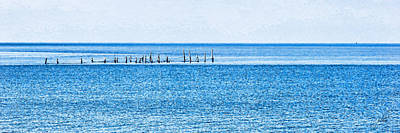 Photograph - Boat Tie - Ups - High Key - Chesapeake Bay by Paulette B Wright
