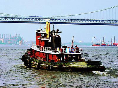 Tugboat Photograph - Boat - Tugboat At Penn's Landing by Susan Savad
