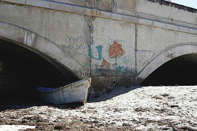 Photograph - Boat Under Bridge by John Noel