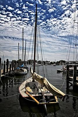 Photograph - Boat Under The Clouds by Alice Gipson