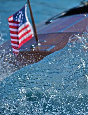Photograph - Boat Wake by Steven Lapkin