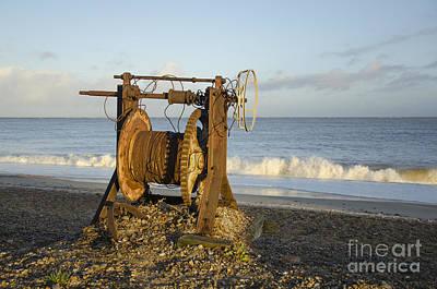 Boat Winch 2 Print by Steev Stamford