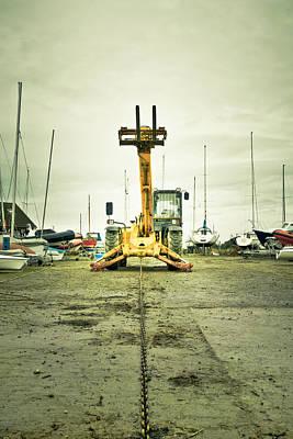 Boat Winch Print by Tom Gowanlock