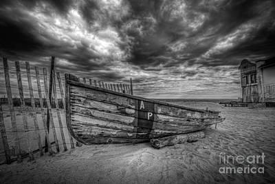 Boat Wreckage Bw Original