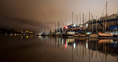 Photograph - Boat Yard At Night by Ian Cocklin