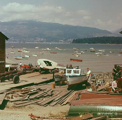 Photograph - Boat Yard by Vintage Photography