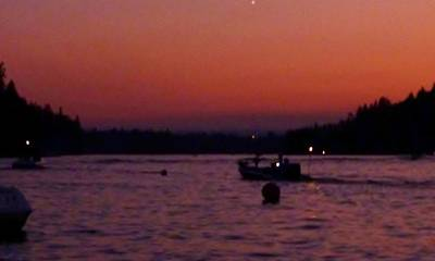 Photograph - Boaters Red Sky At Night Oregon by Susan Garren