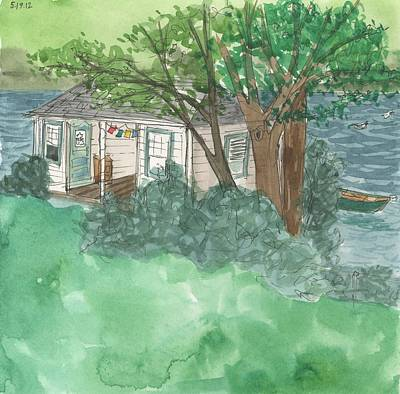 Boathouse At Ananda Art Print