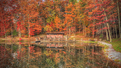 Boathouse At Boley Lake Art Print