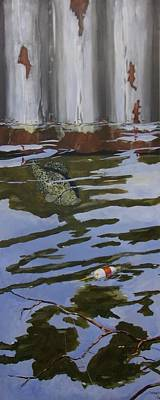 Fishing Shack Painting - Crappie Fish A by Michael Dillon