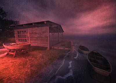 Digital Art - Boathouse by Kylie Sabra
