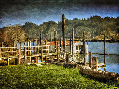 Photograph - Boathouse On The Siuslaw by Thom Zehrfeld